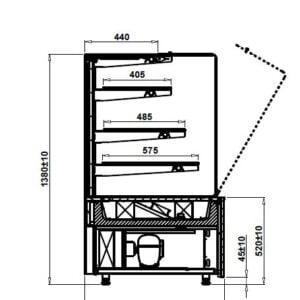 Witryna cukiernicza Cube W 3P