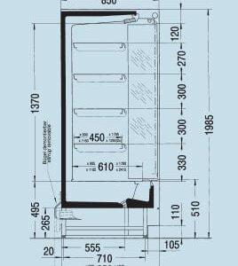 Regał chłodniczy Carrier/Linde Optimer - używany